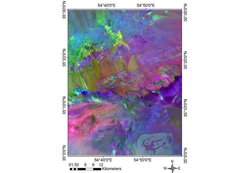 داده کاوی جهت یافتن پتانسیل کانی های فلزی در منطقه معلمان با استفاده از داده های اکتشافی (آنالیز تصاویر ماهواره ای، نتایج آنالیز ژئوشیمیایی، نتایج زمین شناسی و ....) سال1394